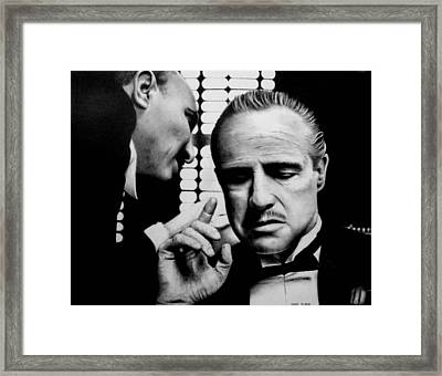 The Godfather Framed Print by Rick Fortson