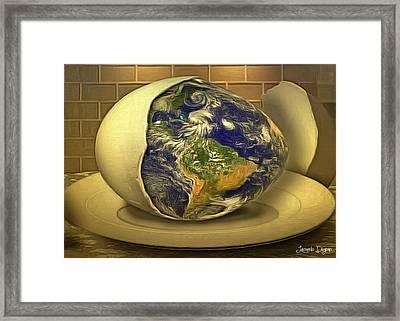 The God's Egg Framed Print by Leonardo Digenio