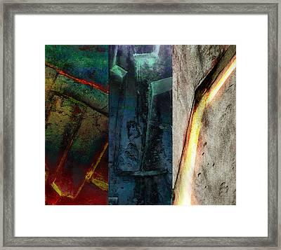 The Gods Triptych 1 Framed Print by Ken Walker