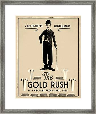 The Gold Rush Charlie Chaplin 1925 Framed Print by Digital Reproductions