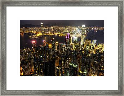 The Golden City Framed Print by Aaron Choi