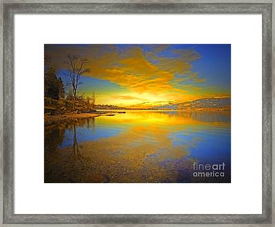 The Golden Clouds Of Winter Framed Print by Tara Turner