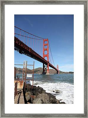 The Golden Gate Bridge At Fort Point - 5d21473 Framed Print by Wingsdomain Art and Photography