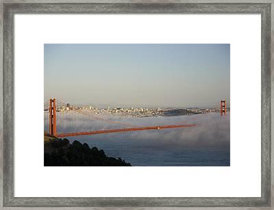 The Golden Gate Bridge From Marin Framed Print by Richard Nowitz