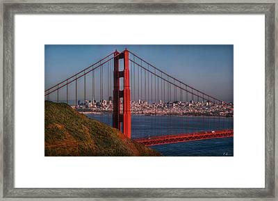 The Golden Gate Framed Print by Hanny Heim