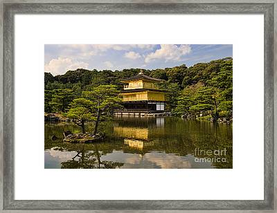 The Golden Pagoda In Kyoto Japan Framed Print by David Smith