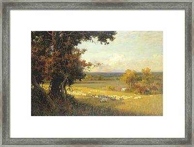 The Golden Valley Framed Print by Sir Alfred East