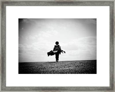 The Golfer Framed Print by Shawn Wood
