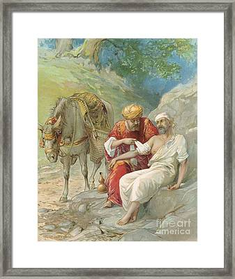 The Good Samaritan Framed Print by Ambrose Dudley