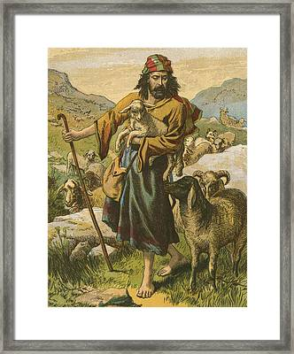 The Good Shepherd Framed Print by English School