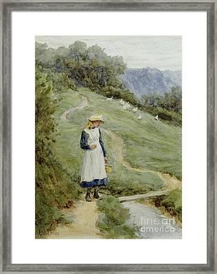 The Goose-girl  Framed Print by Helen Allingham