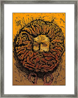 The Gorgon Man Celtic Snake Head Framed Print by Larry Butterworth