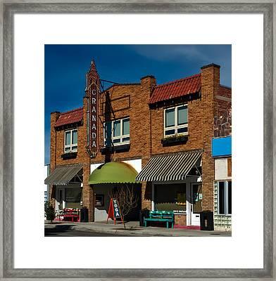 The Granada Theatre - Alpine Texas Framed Print by Mountain Dreams