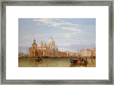 The Grand Canal - Venice Framed Print by George Clarkson Stanfield