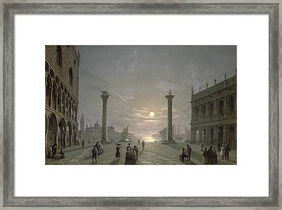 The Grand Canal From Piazza San Marco Framed Print by Henry Pether