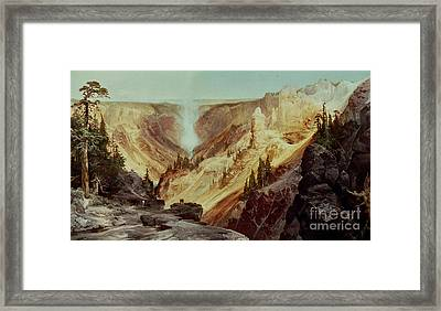 The Grand Canyon Of The Yellowstone Framed Print by Thomas Moran