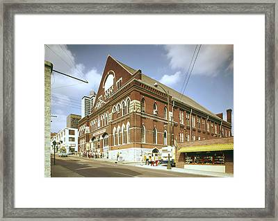 The Grand Ole Opry, Circa 1960s Framed Print by Everett