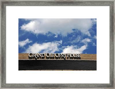The Grand Ole Opry Nashville Tn Framed Print by Susanne Van Hulst