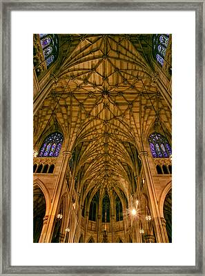 The Grandeur Of St. Patrick's Cathedral Framed Print by Jessica Jenney