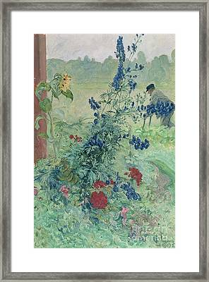 The Grandfather Framed Print by Carl Larsson