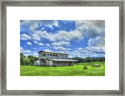 The Gray Barn 2 Prospect Community Morgan County Ga Framed Print by Reid Callaway