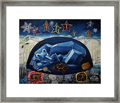 The Great Bear Sleeps At The Edge Of The World Framed Print by Dawn Senior-Trask