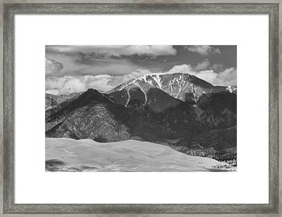 The Great Colorado Sand Dunes  125 Black And White Framed Print by James BO  Insogna