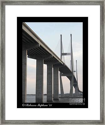The Great Connection Sidney Lanier Bridge Framed Print by Rebecca  Stephens