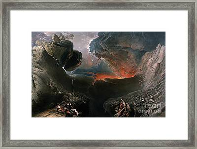 The Great Day Of His Wrath Framed Print by Charles Mottram
