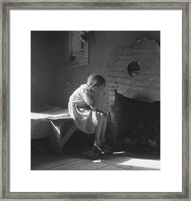 The Great Depression. Young Girl Framed Print by Everett