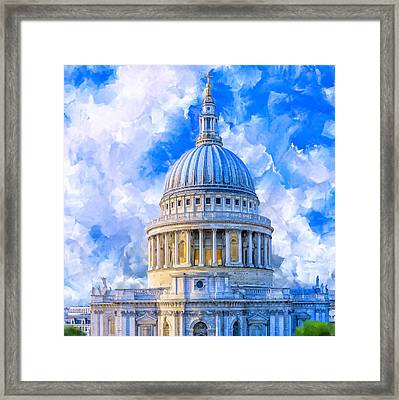 The Great Dome - St Paul's Cathedral Framed Print by Mark Tisdale