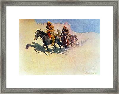 The Great Explorers Framed Print by Frederic Remington