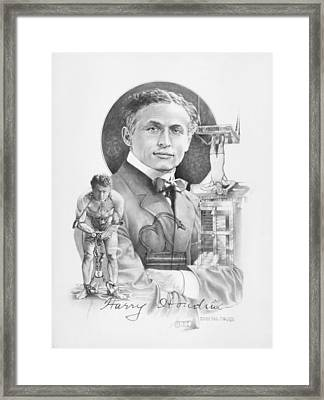 The Great Houdini Framed Print by Steven Paul Carlson