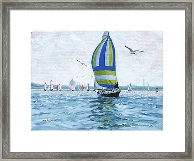 The Great Race 06 Framed Print by Laura Lee Zanghetti