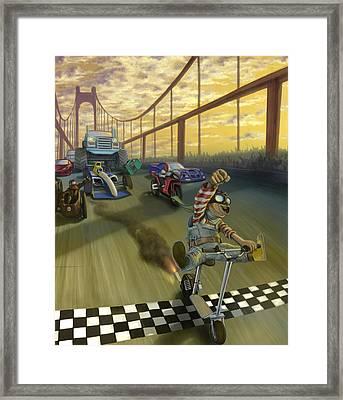 The Great Race Framed Print by Nicholas Bockelman