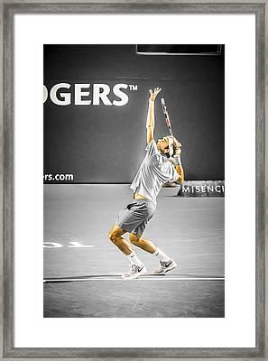 The Great Roger Federer Framed Print by Bill Cubitt