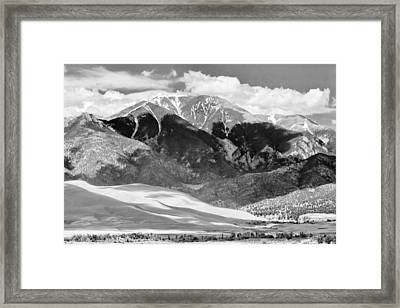 The Great Sand Dune Valley Bw Framed Print by James BO  Insogna