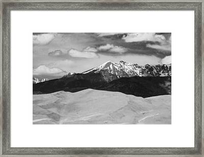 The Great Sand Dunes And Sangre De Cristo Mountains - Bw Framed Print by James BO  Insogna