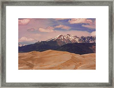 The Great Sand Dunes And Sangre De Cristo Mountains Framed Print by James BO  Insogna