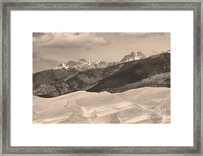The Great Sand Dunes Sepia Print 45 Framed Print by James BO  Insogna