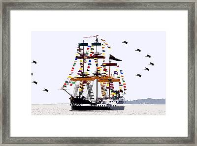 The Great Ship Gasparilla Framed Print by David Lee Thompson