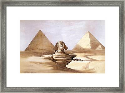 The Great Sphinx, Pyramids Of Gizeh Framed Print by David Roberts
