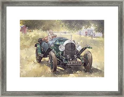 The Green Bentley At Althorp Framed Print by Peter Miller