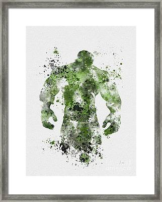 The Green Giant Framed Print by Rebecca Jenkins