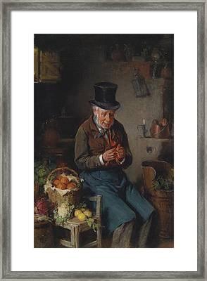 The Greengrocer  Framed Print by Hermann Kern