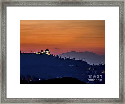 The Griffith Observatory Framed Print by Art K