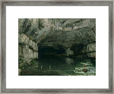 The Grotto Of The Loue Framed Print by Gustave Courbet