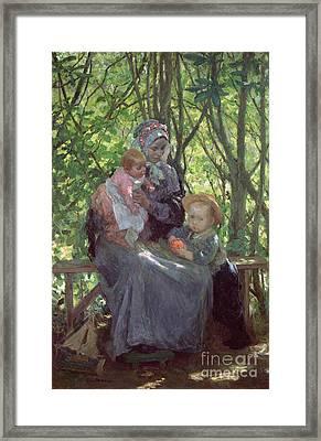 The Grove Framed Print by Julius Gari Melchers