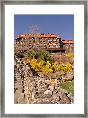 The Grove Park Inn In Early Spring From Below Framed Print by MM Anderson