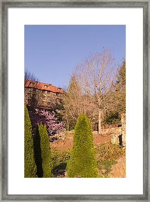 The Grove Park Inn On A Spring Evening Framed Print by MM Anderson